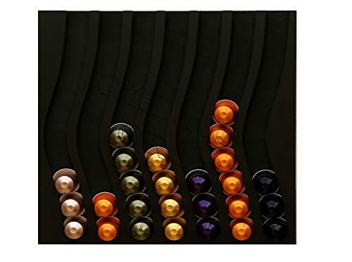 Halterung Kaffee Tür Capules Vertreiber für Nespresso Kapseln 70 schwarz