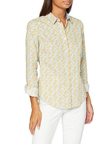 Springfield 5.Frq.Camisa Popelin-C/19 Blusa, Azul (Blue_Print 19), 38 (Tamaño del Fabricante: 38) para Mujer