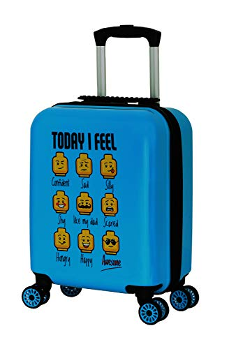 BBM LEGO Bags Play Date trolley van ABS kunststof, reistrolley met LEGO minifigures Today I Feel motief, kindertrolley…