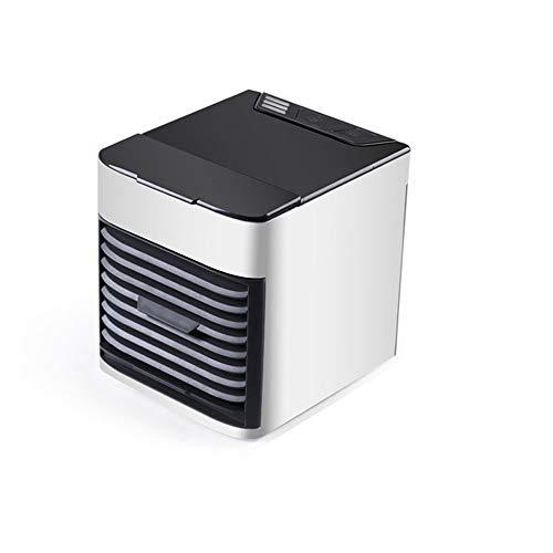 Aire acondicionado portátil, ventilador evaporativo Whuooad con funciones 3 en 1, mini enfriador de aire acondicionado, cubo pequeño, carga USB para escritorio, dormitorio, dormitorio y aire libre