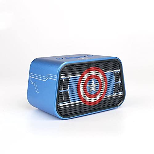 Pièces Altavoz Bluetooth Marvel, Altavoces Portátiles De Bajos Fuertes con Micrófono De Reducción De Ruido Inteligente, Sonido De Calidad De Video 3D, para iPhone iPad Tablet Smartphone(Color:B)