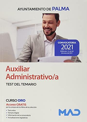 Auxiliar Administrativo/a del Ayuntamiento de Palma. Test del Temario