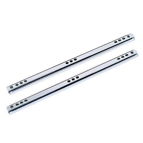 Drawer Slides Schmaler Schubladenschlitten, Breite 17 Mm, Verzinkte Oberfläche, Beidseitiger Zug, Für Alle Schubladenarten, Möbel