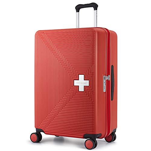 [スイスミリタリー] Fortress フォートレス スーツケース Type M ファスナータイプ TSAロック 超軽量 傷防止 一年保証 [SWISS MILITARY]/Mサイズ 26インチ 69L レッド(SM-M726/Lovely Red)