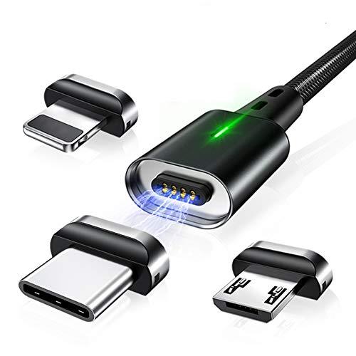 DXH Magnética por Cable, 3 en 1 Carga magnética Adecuado para iPhone...