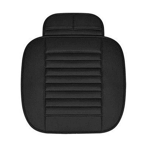 Hyzb F10 de Cuero del Asiento de Coche del Amortiguador del cojín del Coche for BMW E30 E34 E36 E39 E46 E60 F11 F10 F30 X3 X5 E35 E82 E84 328i X1 X1 E87 E90 E91 E92 (Color : Black Front 1 Piece)