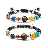 Bracciale Bracelet Uomo Donna 8Mm Lava 7 Chakras Aromaterapia Olio Essenziale Diffusore Bracciale Corda Intrecciata Pietra Yoga Perline Braccialetto 21G Design03