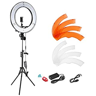 Neewer 12-inch Inner/14-inch Outer LED Ring Light and Light Stand 36W 5500K Lighting Kit with Soft Tube,Color Filter,Hot Shoe Adapter,Bluetooth Receiver for Camera Smartphone YouTube TikTok Video Shooting (B078993P7Y) | Amazon price tracker / tracking, Amazon price history charts, Amazon price watches, Amazon price drop alerts