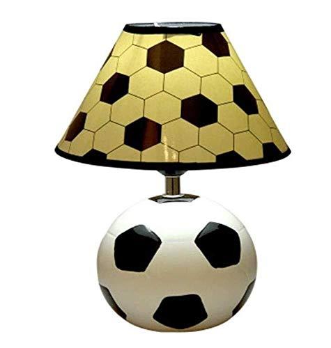 Hancoc Escritorio Protección de los Ojos de fútbol de Dibujos Animados luz de la lámpara de cerámica de Lectura for el Dormitorio de los niños Dormitor, Color, A