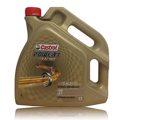 Castrol - Olio motore Power 1 Racing 2T   tanica trasparente 4L per moto