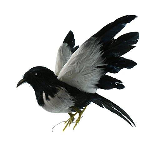 MagiDeal Oiseau Artificielle Plumes Sculptures Figurine en Polyéthylène Ornement Jardin Arbre Bricolage - Couleur #19