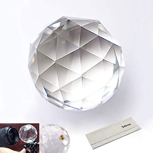 Selens Photo Photography Prism with Female 1/4 Inch, Professional Crystal Glass Ball Create Light Rainbow Effect for Camera Lens, for Photographer (60mm /2.4 Inch)