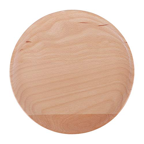 Plato de cena de madera Bandeja para servir comida anti-escaldado Estilo simple 20x20x2cm para restaurante para ensalada de frutas Sushi