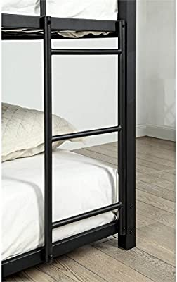 Amazon Com We Furniture Full Metal Loft Bed Black Kitchen Dining