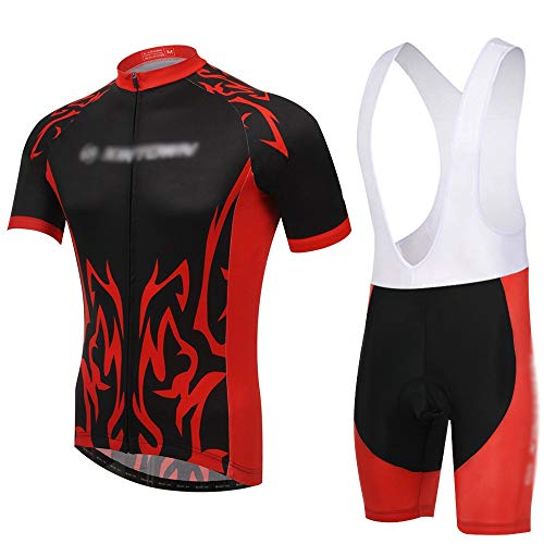 GONGMICF Hombre Ropa Ciclismo,Ciclismo Conjunto De Ropa,Secado Rápido Transpirable Maillot Ciclismo +...