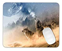 Timing&weng The Wolf is Roaring Mouse pad Gaming Mouse pad Mousepad Nonslip Rubber Backing [並行輸入品]