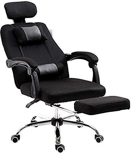 N/Z Living Equipment Bürostuhl Ergonomischer Bürostuhl Stoff Zurücklehnen Computer Schreibtisch Drehbarer Verstellbarer Stuhl mit Fußstütze Hals Lendenwirbelsäule (Farbe: Grau Größe: Freie Größe)