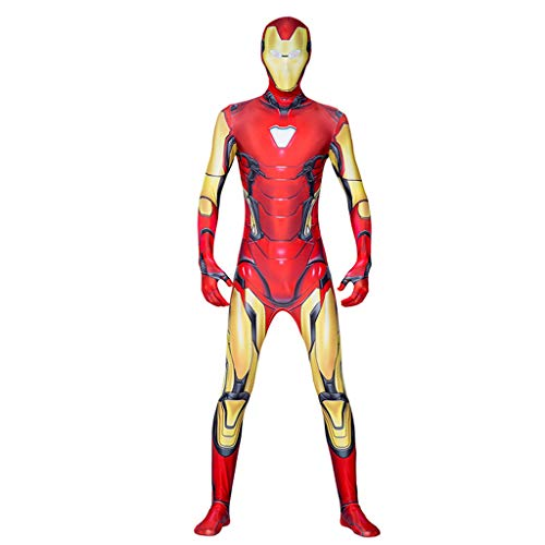WOLJW 3D Prin Lycra Party Dress Iron Man Kostuum Cosplay Volwassen Kind Bodysuit Jumpsuits Kledij Prop Kerstmis Performance Show