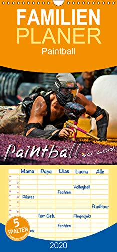 Paintball - so cool - Familienplaner hoch (Wandkalender 2020, 21 cm x 45 cm, hoch)