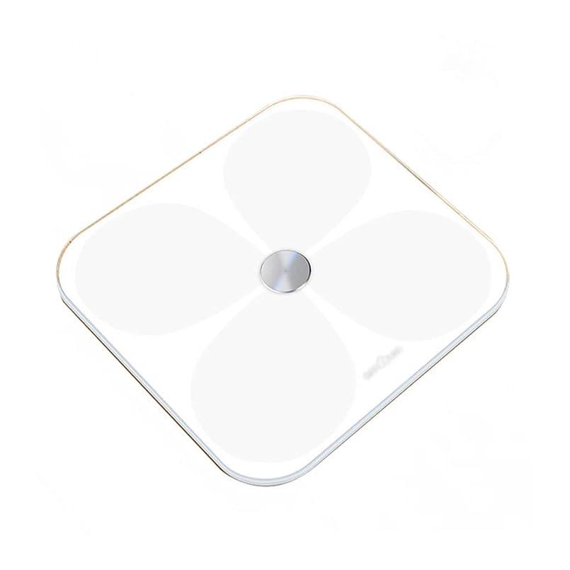 蒸緊張怖がって死ぬ体重計 電子式浴室スケール精密減量重量スケールITOコーティングLED隠しスクリーンディスプレイインテリジェントスイッチマシン31×31cm (色 : 白)