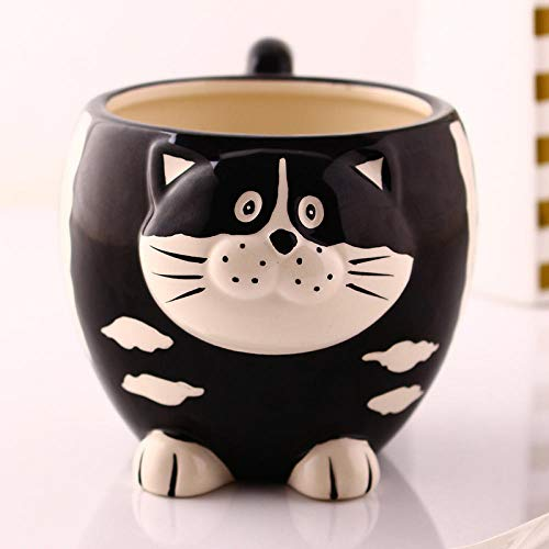3D Animal Cat Mugs Creative Cartoon Cups Office Coffee Milk Tea Mug-Cat 500ml