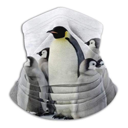 AEMAPE Calentador de Cuello, Polaina de Cuello, Calentador de Orejas, Diadema, pingüino Emperador, Bufanda de versatilidad antártica para niños