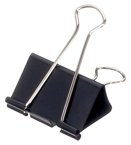 Foldback-Klemmer mauly®, Bügel abnehmbar, Klemmweite 19mm, schwarz