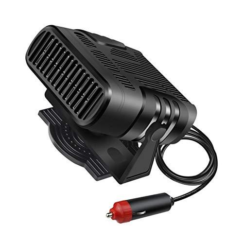 Earlyad Calentador de Ventilador de Coche Calentador de Coche portátil de 12 V 24 V desempañador de Parabrisas de Coche para Coche Todoterreno SUV camión Furgoneta workable