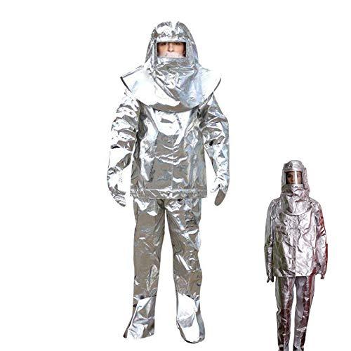 TBDLG 1000 ℃ Aluminiumfolien-isolationskleidung, wasserdichte, Verschleißfeste und Feuerfeste Kleidung, Weich und Faltenfest für Arbeiten Bei Hohen Temperaturen