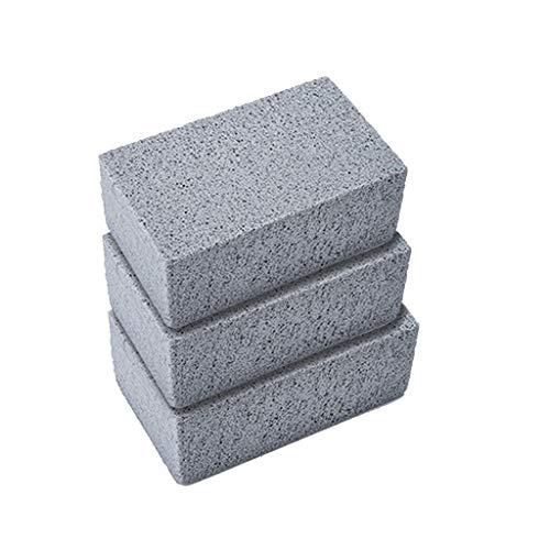 Grillborstel, 3 stuks, voor grill, reiniging, antislip steen, reukloos, ecologisch, ecologisch, baksteen, grill, grillplaat, voor het verwijderen van vlekken