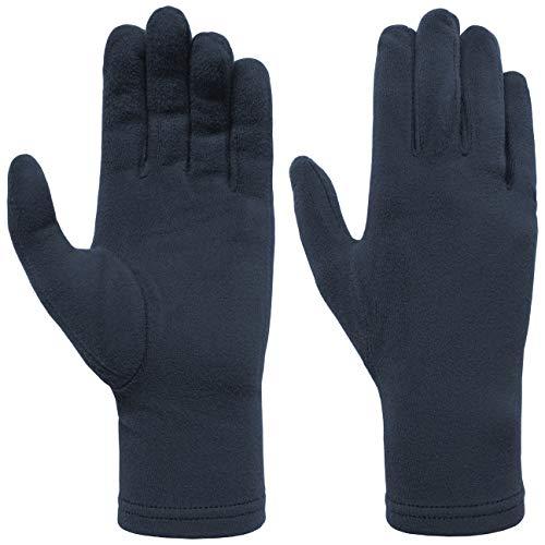 Hutshopping Damen Microfleece Handschuhe Fleecehandschuhe Damenhandschuhe (One Size - blau)