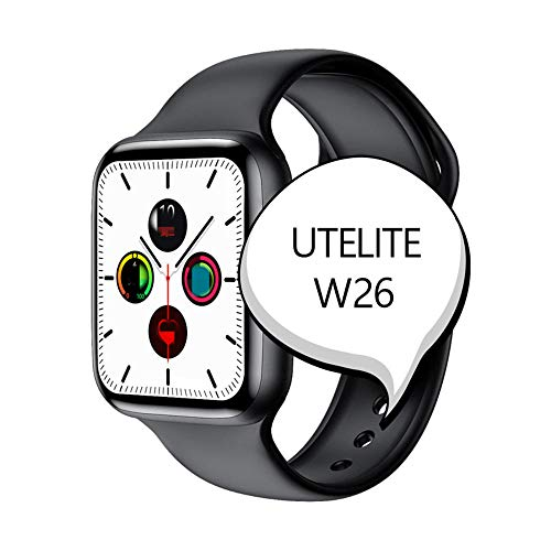 Generies Ultelite W26 Smartwatch, 6 Bluetooth-Anrufe, 1,75 Zoll Display, Herzfrequenz-Monitor, ECG, Sportuhr, wasserdicht PK P8 Iwo 8 Iwo 12 | with retail box schwarz