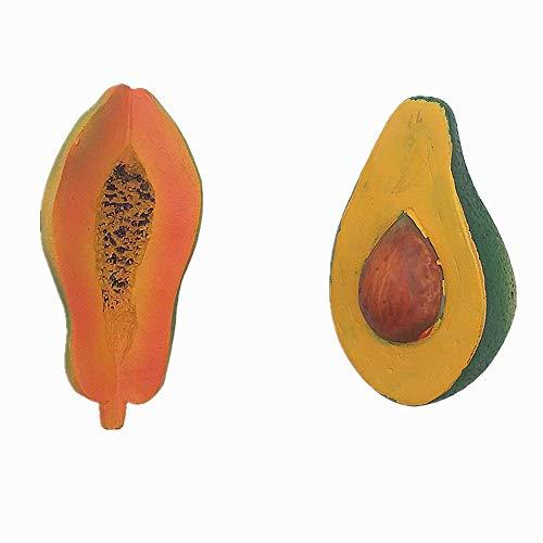 Papaya Avocado 3D Koelkast Magneet Thuis Keuken Decoratie Handgemaakte hars Food Series Fruit Koelkast Magneet