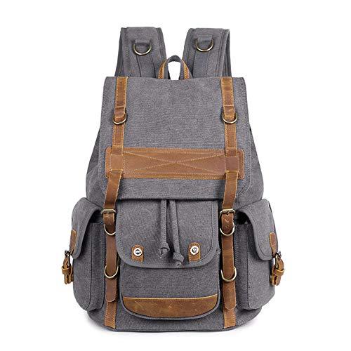 MSQL Laptop-Kamera-Rucksack, Canvas wasserdicht SLR DSLR-Kamera-Rucksack, verschleißfest und atmungsaktiv, für iPad und anderes Digitalkamera-Zubehör,Grau