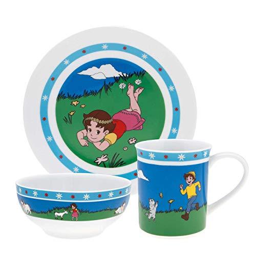 Puresigns Heidi Kindergeschirr Set 3-teilig aus Porzellan