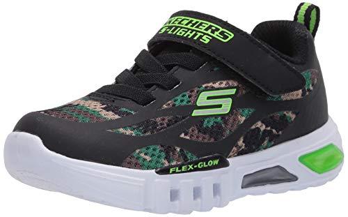 Skechers Kids Boys' Flex-Glow-Rondler Sneaker, Camo, 9 Medium US Toddler