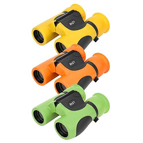 Oumij Telescopio Binoculares para Niños Mejor Regalo, 8x21 Mini Portátil de Mano al Aire Libre Telescopio Binocular Juguete para niñas Regalo Cuerno Máscara para los Ojos Proteger los Ojos(Verde)