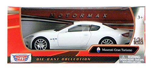 MotorMax Maserati Gran Turismo 1:24 Scale - White