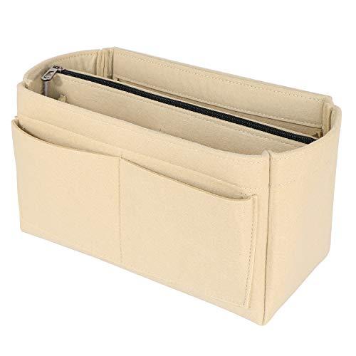 Bag in Bag Handtaschen Organizer,BeringLoad LV Taschen Organizer, Filz Organizer mit Abnehmbare Reißverschluss-Tasche