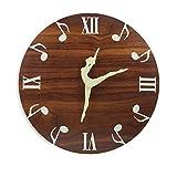 PIVFEDQX Reloj De Pared Luminoso De Baile De Ballet Que Brilla En La Oscuridad...