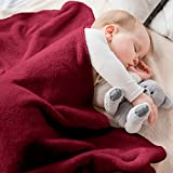 Baby Blanket - Fluffy Fleece Blanket for Baby - Soft, Warm & Cozy Receiving Blankets for Toddlers - for Cribs & Strollers (30x40, Red)
