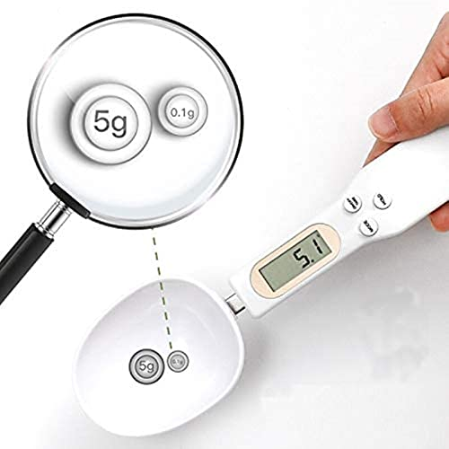 YUIOLIL Nuevas cucharas medidoras Digitales precisas 500g / 0,1g Cuchara medidora de Cocina gram Cuchara electrónica con Pantalla LCD Básculas de Cocina Digitales