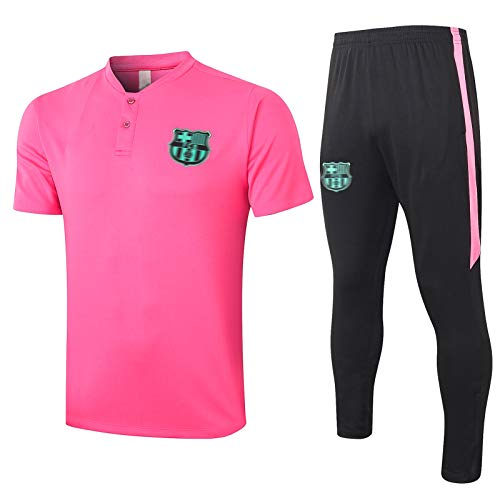 AXEE BǎRCěLǒNǎ Hombres Jerseys de fútbol Conjuntos - Adultos Fútbol Transporte Thacksuit Camiseta de Manga Corta Ropa Deportiva A-M