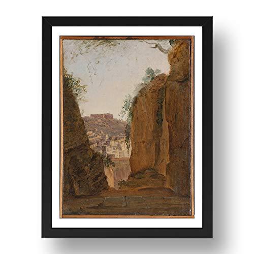 Period Prints Franz Ludwig Catel: Virgils Tomb Nápoles ca. 1818, arte vintage,...