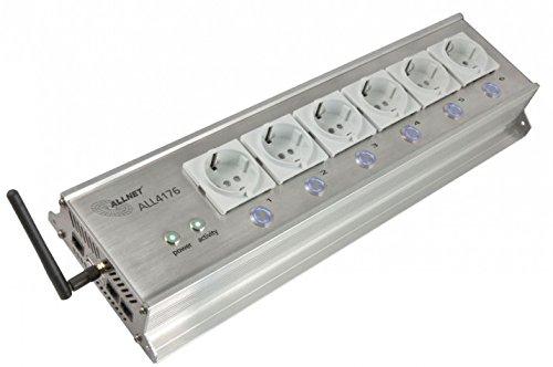AllNet all4176Innen 6sortie (S) AC Grau Steckdosenleiste–Steckdosenleiste (grau, 200–250, 10A, 0–40°C, 140mm, 425mm)