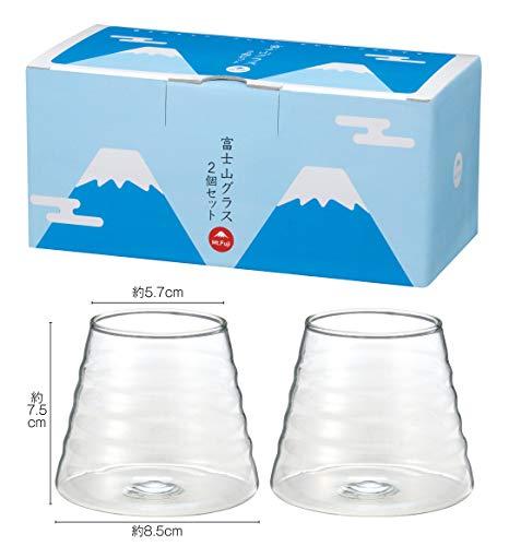 富士山グラス 2客組 24セット SNS インスタ映え フォトジェニック ロックグラス カクテル ビール ワイン
