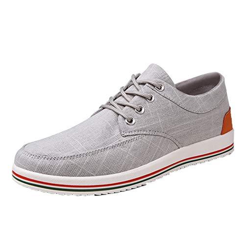 Zapatillas de Deporte clásicas de Color sólido con Cordones, Zapatos Casuales de Corte bajo, Zapatos de Lona de Ocio Transpirables Antideslizantes