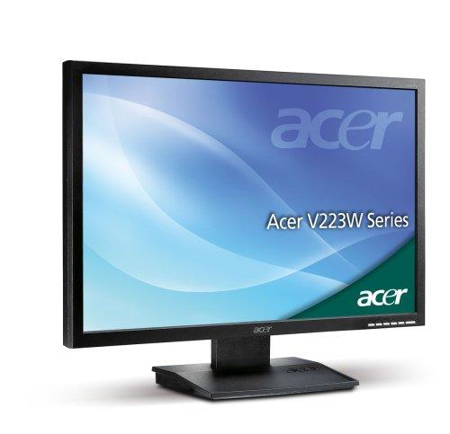Acer V223W 55,9 cm (22 Zoll) Widescreen TFT Monitor (Kontrast dyn. 2500:1, 5 ms Reaktionszeit), schwarzmatt