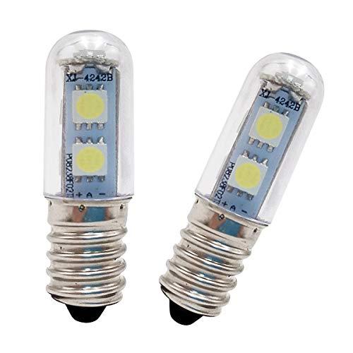 WOWLED-Kühlschrank-LED-Leuchtmittel, E14, 2 Stück, 1 W Mini-LED-Leuchtmittel, entspricht 10 W Standard-Leuchtmittel, 140 lm, 6000 K, weißes Licht, Dunstabzugshaube, Kühlschrank, Herd, Küchenlampe 220 - 240 V