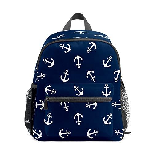 Mochila infantil para niños de 1 a 6 años de edad, mochila perfecta para niños y niñas y niños pequeños a jardín de infancia, anclajes de barco, azul marino